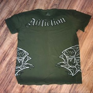 RARE SIGNED Affliction Live Fast Graphic T-Shirt